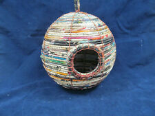 Colourful Hanging Bird Nest Home Large Ball Paper Wicker / Metal