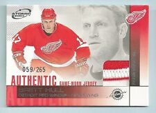 BRETT HULL 2003 PACIFIC ATOMIC GAME WORN JERSEY 4 COLOR PATCH /265