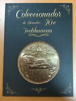 Mexico Teotihuacan Coin 20 Ctvs Collector Album Carpet