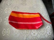CLINIQUE RED/ORANGE SUMMER PVC MAKE UP BAG NEW NO TAGS