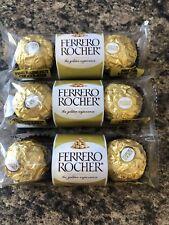3 X Ferrero Rocher Hazelnut Chocolates 1.3 oz Each