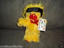 PLUSH DOLL FIGURE SUGAR DADDY ADVERTISING CANDY COLLECTIBLE BEAR WITH TAG