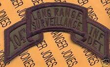 104th LRS Long Range Surveillance Airborne Ranger Inf Det ARNG OD scroll patch