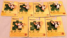 GREMLINS : 7 GIZMO CARDED FIGURES FROM GREMLINS II MADE IN 2000 BY JUN PLANNING