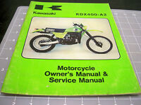 KAWASAKI KDX400 99963-0029-01 SERVICE MANUAL USED 1 QTY 1980 OEM FREE SHIPPING