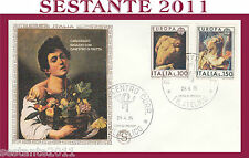 ITALIA FDC FILAGRANO CARAVAGGIO RAGAZZO CANESTRO FRUTTA 1975 ANNULLO ROMA G622