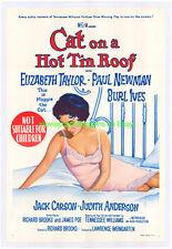 CAT ON A HOT TIN ROOF MOVIE POSTER LB N. MINT AUSTRALIAN 1SHEET ELIZABETH TAYLOR