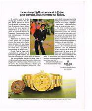 PUBLICITE ADVERTISING  1982   ROLEX   DAY-DATE  SEVERIANO BALLESTEROS montres