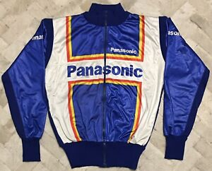 Vintage 80% Wool Panasonic Cycling Team Jersey Jacket Sz 1 Made In Italy
