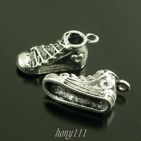 25pcs Vintage Style Silver Alloy Cute Sport Shoes Pendant Charms Jewelry 38640
