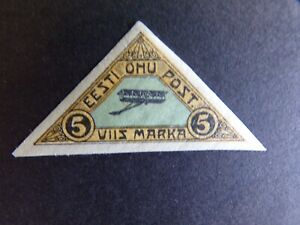 Estonia - 1920 Air Five Marka Mounted Mint