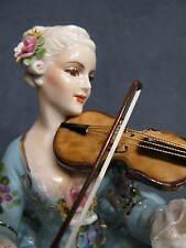 Porcellana Capodimonte, Collezione Fabris, Splendida Dama Violinista.