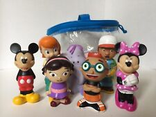 Disney's Retired Splish Splash Set Of 7 Mickey Mouse Clubhouse Bath Toys