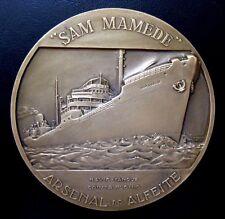 SAM MAMEDE ARSENAL DO ALFEITE TANKER 1950 NAVIO-TANQUE / Bronze Medal 75 mm N110