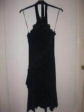LADIES BLACK MK ONE HALTER NECK PARTY/COCKTAIL DRESS. SIZE 8. Cruise.
