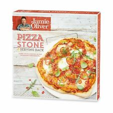 Jamie Oliver Keep It Simple Pizza Stone and Serving Rack Authentic Crispy Pizza