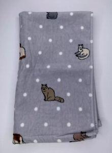 Ellen Degeneres Hand Towel Gray Spotty Cat Cotton 16 in X 26 in