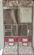 Thirty One 31 Hang Up Wall or Door Organizer Free Spirit DITZY PINK Flowers