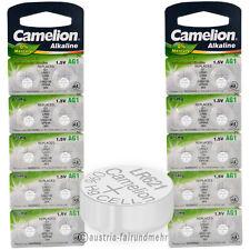 """20x Camelion Knopfzellen Alkaline AG1 LR60 LR621 364"