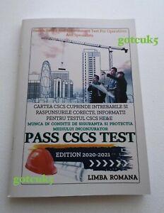 CARTE CSCS LIMBA ROMANA 2020/2021 CSCS BOOK ROMANIAN LANGUAGE - PASS CSCS TEST