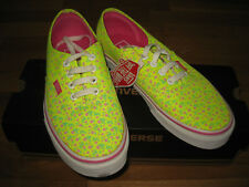NWT VANS WOMENS NEON YELLOW FLORAL  SNEAKERS SHOES,UK 5,US 7.5