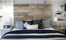 "Rustic King Size Bed Reclaimed Pallet wood DIY Headboard 78"" wide x 30"" tall"