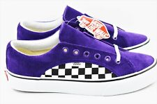 Vans Lampin Checker Cord Mens Size 9 Heliotrope Skate Shoes Purple Corduroy