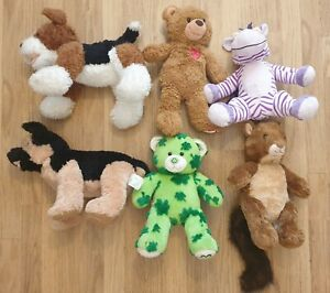 ❤️ Build A Bear Bundle x 6 - bears, dogs, zebra, squall etc - rare - 💜 (lot 2)