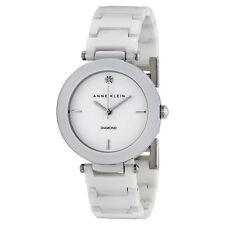 Anne Klein White Dial White Ceramic Ladies Watch 1019WTWT