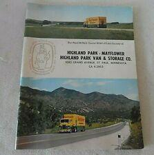 1963 MAYFLOWER VAN & STORAGE CO ST PAUL MINN HIGHLAND PK RAND MCNALLY RD ATLAS