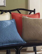 """Sferra AMELIA Quilted Large Decorative Pillow TAN Cotton - 20 x 20"""" - NEW!"""