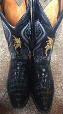 Mexico Black Hornback Alligator Crocodile Cowboy Boots size 9 or 9 1/2 Western
