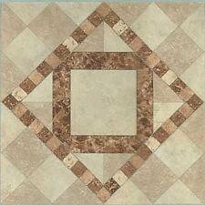 Beige Vinyl Floor Tile 40 Pcs Self Adhesive Flooring - Actual 12'' x 12''