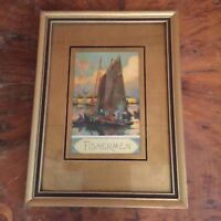 Antique Gold and Black Wood Picture Frame
