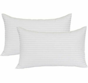 Stripe luxury Pillow filled with quality shredded Memory Foam for support back