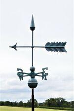 More details for large arrow verdigris finish weathervane