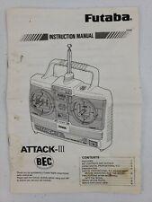 FUTABA MODEL ATTACK-III RADIO CONTROL BEC TRANSMITTER ORIG INSTRUCTION MANUAL