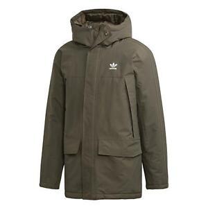 adidas ORIGINALS MEN's PADDED PARKA COAT JACKET WARM WINTER KHAKI NEW BNWT s OG