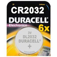 """6x CR2032 DURACELL Electronics Lithium DL2032 3Volt"