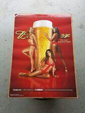 Brand New Budweiser Sports Illustrated Si Hot Girls Bikini Poster Beer Glass