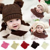 Cute Baby Toddler Kids Boys Girls Hat Knitted Crochet Beanie Winter Warm Cap New