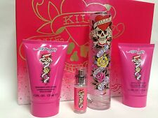 Ed Hardy By ED HARDY GIFT SET FOR WOMEN PERFUME EDP SPRAY 3.4 OZ+++ NEW IN BOX