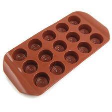 Novel Buttons Chocolate Candy Cookie Cake Topper Jelly Silicone Mould Mold Tray