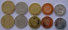 ARMENIA 2003-2004 SERIE 5 MONETE 200-100-50-20-10 DRAMS FDC UNC -