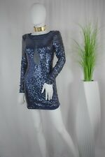 Elegant and beautiful navy blue spangles dress perfect for your prom.