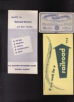 Erie Railroad 1930s 1940s Lot Timebook Brochures Stubs