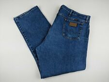 Wrangler Men's Jeans 46 x 32 Original Fit Cowboy Cut 13MWZGK Medium Wash Denim