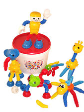 Popoids Animals LARGE 140 Piece set in Including Popoid Man Figure *Tub*