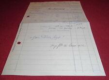 rechnung alt antik ruser & nowak maulburg baden holzwaren  1922 papier