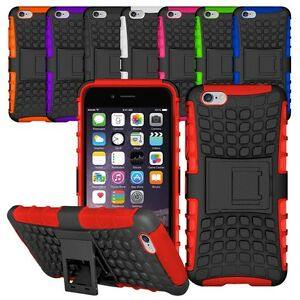 Heavy Duty Shockproof Bumper Hybrid Armor Stand Case For iPhone 5S 6S 7 8 X Plus